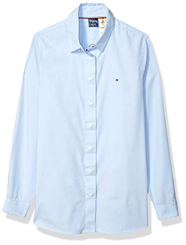Tommy Hilfiger Women's Adaptive Shirt with Magnetic Buttons, Covington Blue, X Small ()