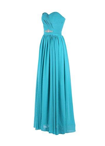 YiYaDawn de las mujeres sin espalda vestido largo vestido de noche de dama Azul Royal