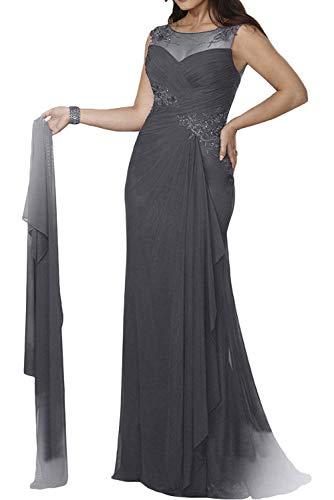 Mit Stola Grau Marie Brautmutterkleider Abendkleider Damen La Figurbetont Meerjungfrau Ballkleider Braut x4qc77wPWH