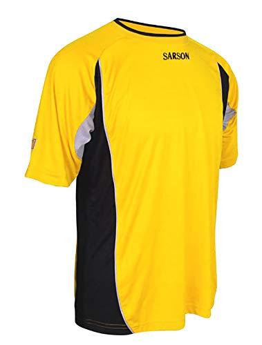 Soccer Goalie Jersey Short-Sleeve - Quick-Drying - Lightweight - Side Mesh Yellow