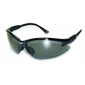 Global Vision Eyewear Cougar Safety Glasses, Smoke Tint Lens