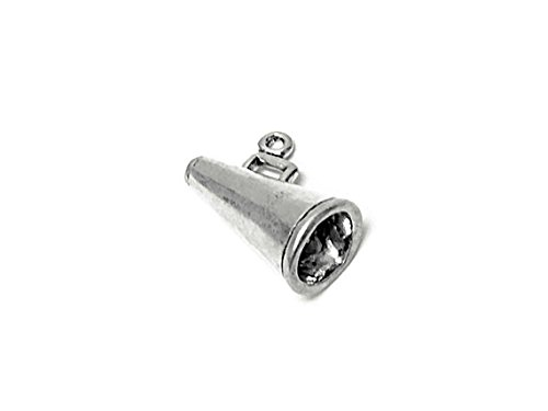 Megaphone Charm Sterling Silver 11.5mm, Silver Megaphone Charms, 925 Sterling Silver Charms, Cheerleader Charms, Megaphone Charms - ()