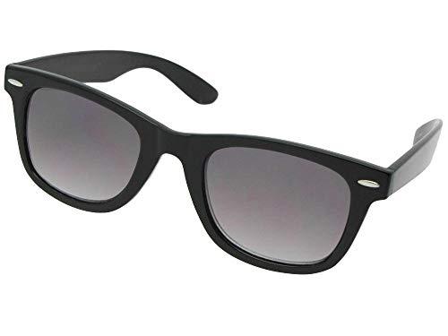 Retro Multifocal Lens Reading Sunglasses B125 (Black Frame-Gray Lenses, 2.75)