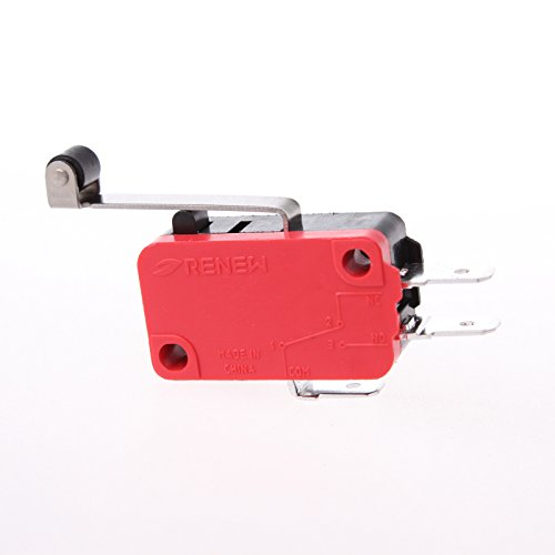 5 Pcs RV-166-1C25 Micro Limit Switch Actuator Type Long Roller Lever Arm