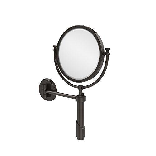 Allied Brass TRM-8/4X-ORB Tribecca Collection Wall Mounted Make-Up Mirror 8 Inch Diameter with 4X Magnification, Oil Rubbed Bronze