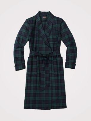 Pendleton Men's Lounge Robe, Black Tartan Watch, X-Large by Pendleton