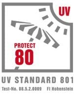 Parasol para carritos de paseo azul claro UPF 80+ protecci/ón certificada