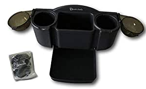 Car Seat Organizer with Fold-Out Tray and 2 Drink Holders
