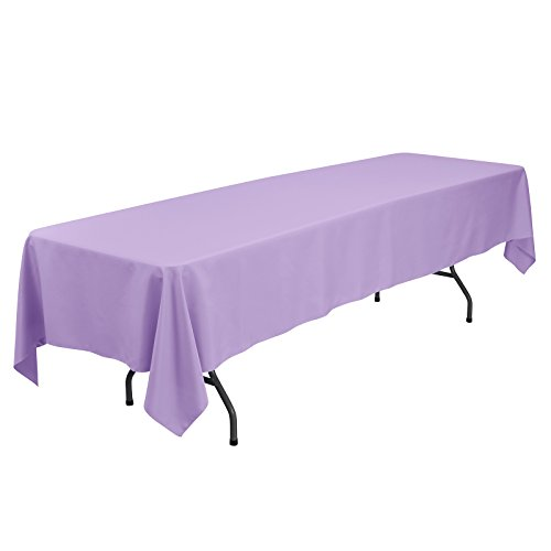 Remedios 60 x 126-inch Rectangle Polyester Tablecloth Table Cover - Wedding Restaurant Party Banquet Decoration, Lavender