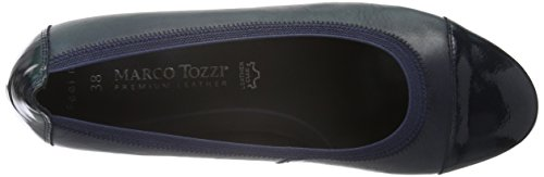 Tozzi Donna Navy Marco Blu Antic Com con Premio 820 22302 Tacco Scarpe 6w1af