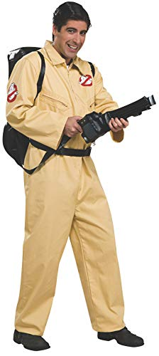 Ghostbusters Deluxe Jumpsuit, Beige, One Size Costume -