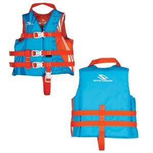 Stearns Child Antimicrobial Nylon Vest Life Jacket - 30-50lbs - Abstract Wave ()