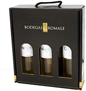 Viña Romale – Vino Blanco Verdejo Seco Pack de 3 Botellas en Estuche Regalo – Origen Almendralejo