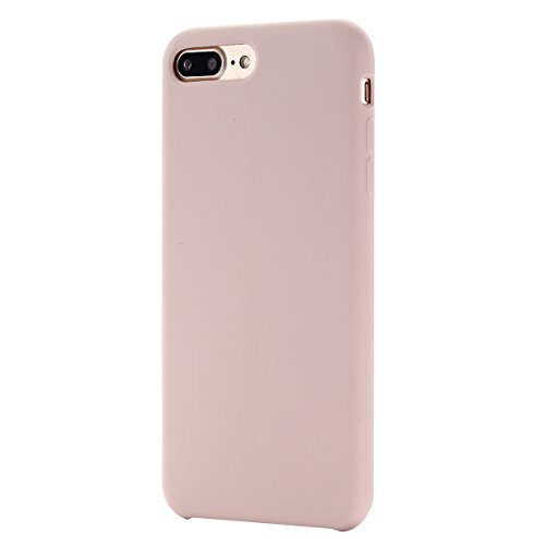 UEETEK Caja del teléfono para Apple iPhone 7Plus / iPhone 8Plus, cubierta protectora resistente a los arañazos de silicona de 5.5 pulgadas para Apple iPhone 7plus / iPhone 8plus (rosa)
