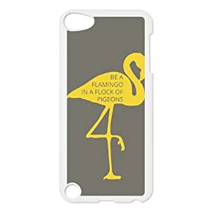 Be A Flamingo In A Flock Of Pigeons iPod TouchCase White TPU Phone Case SV_322904