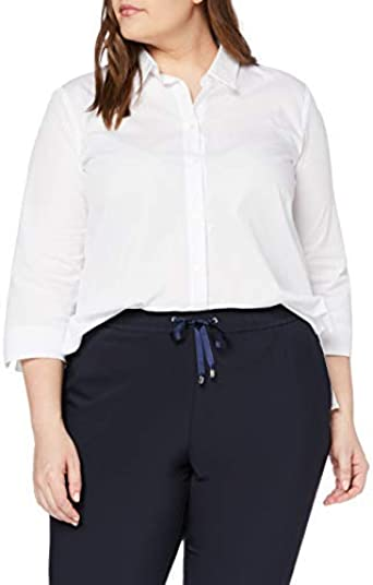 Persona by Marina Rinaldi Big Camisa, Blanco (Yogurt Ottico ...