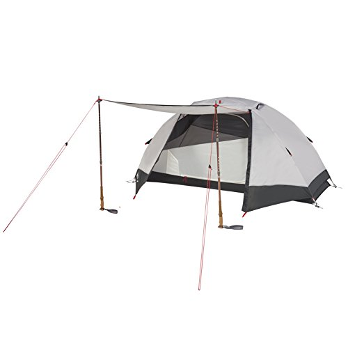 Kelty Gunnison 1 Person Backpacking and Camping Tent with Footprint, Grey