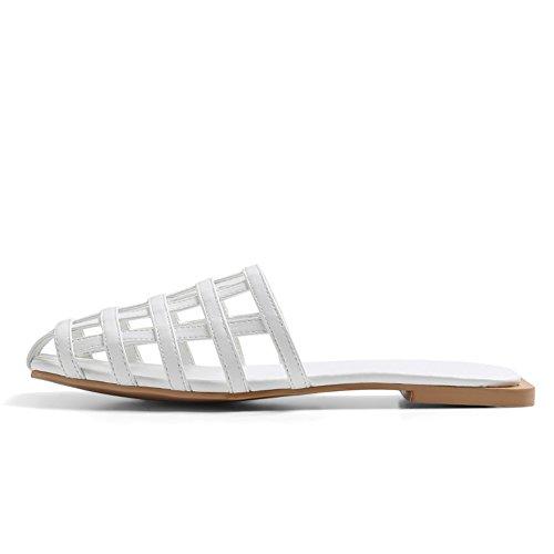 Zapatillas de hueco de desgaste de moda de verano/Europa plana y las sandalias de los estados unidos A
