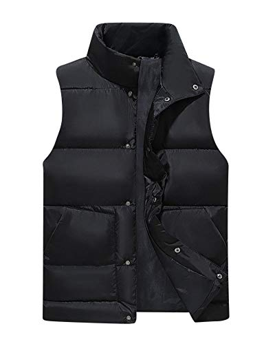 Gilets Color Liangzhu Coat Fit Gilet Cardigan Mens Jacket Sleeveless Bodywarmer Quilted Padded Down Solid Black Breasted Casual Top Vest Slim Single 1Yfzgrq1