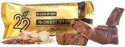 22 Days Nutrition organiques Protein Bars gluten PB gratuite + Chocolate Chip Nirvana - 12 Bars