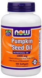 Now Foods Pumpkin Seed Oil 1000mg Soft-gels, 100-Count