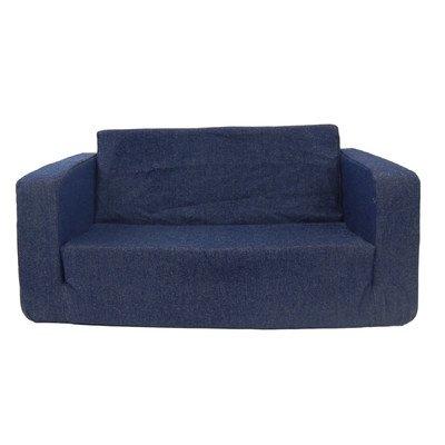Fun Furnishings 55230 Toddler Flip Sofa in Micro Suede Fabric, Pink
