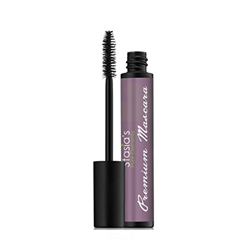 Stasia's Pure Elements Organic Mascara, All Natural, Paraben & Gluten Free, Non-Clumping & Lengthening