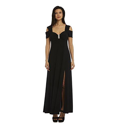 R&M Richards Long Formal Dress Black Evening Gown