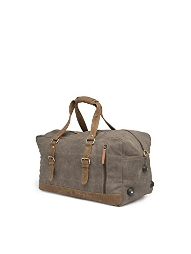 247f4f6143b6 The House Of Tara Special Canvas Large Duffle (Taupe Grey) HTD 146   Amazon.in  Bags