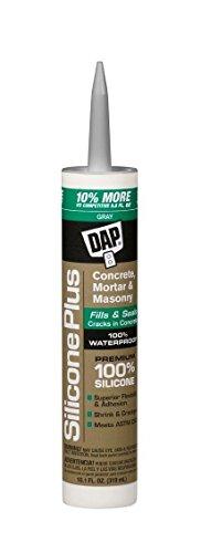 Dap 08675 12 Pack 10.1 oz. Silicone Plus Premium Concrete and Masonry Sealant, Gray - Dap Silicone Rubber Sealant