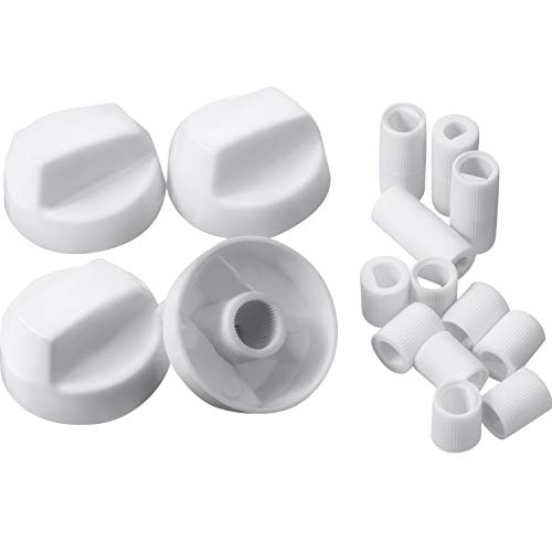 (Jetec 4 Pack Control Knobs with 12 Adapters Universal Design for Oven/Stove/Range)