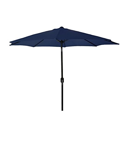 Jordan Steel Patio Umbrella, 9-Feet