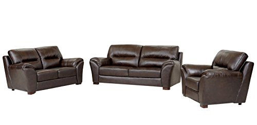 top grain leather sofa set - 4