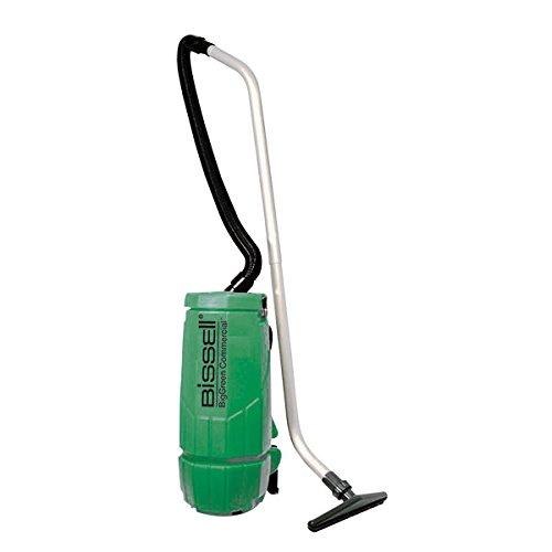 - Bissell BigGreen Commercial Backpack Vacuum, 10 qt, 12 lb