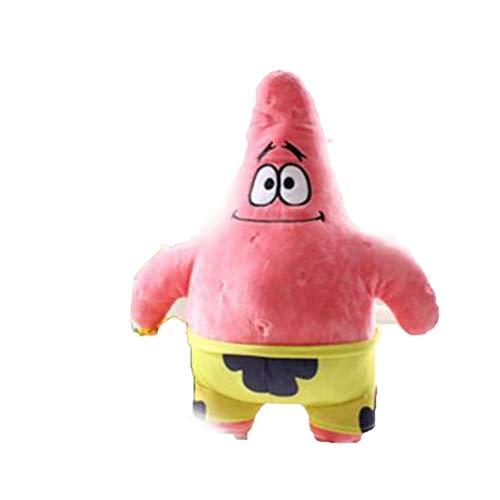 ZQQXV 25cm Spongebob and 26 cm Patrick Plush Toy Soft Cartoon Toy for Kids Doll Birthday Gift Home Decoration ()