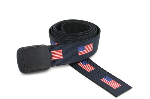 (American Flag Belt Made in the USA (Hiker) )