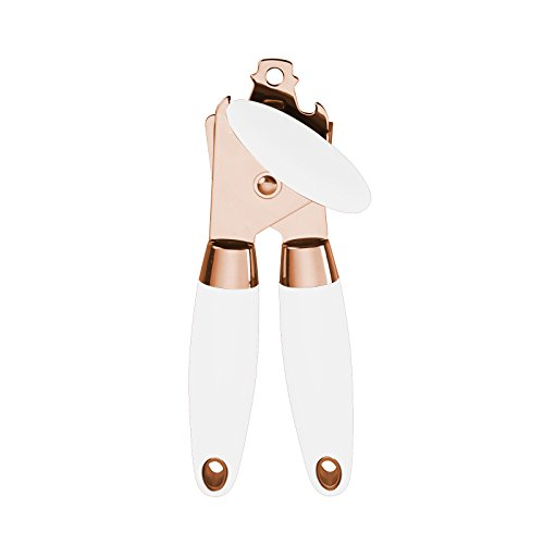COOK with COLOR Manual Rose Gold and White Can Opener with...