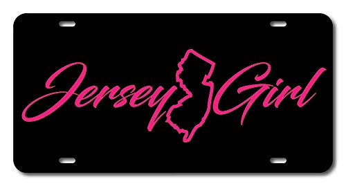 12 X 6 Jersey Girl Novelty License Plate Custom Decorative Front Plate Cover for US Vehicles 4 Holes