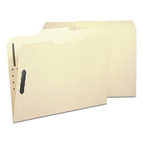 Poly Manila Folders - Smead Poly Fastener Folder, 2 Fasteners, 1/3-Cut Tab, Letter Size, Manila, 24 per Box (1545)