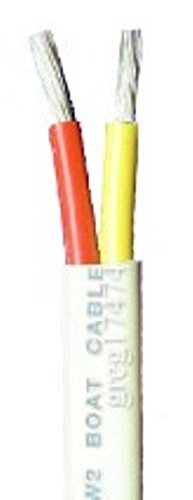 16/2 AWG Duplex Tinned Marine Wire, Red/Yellow 1000 Feet by Lawrence Marine Products