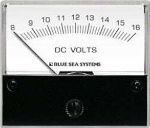 BLUE SEA SYSTEMS 8300 8-16V DC MICRO ANALOG VOLTMETER (Analog Micro Voltmeter)