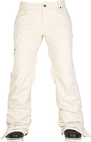 686 Women's Authentic Patron Insulated Pant, Medium, Ivory Herringbone