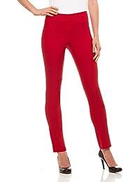 Womens Straight Leg Dress Pants - Stretch Slim Fit Pull...