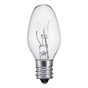Philips 415463 Clear Night Light 7-Watt C7 Candelabra Base Light Bulb, 4-Pack