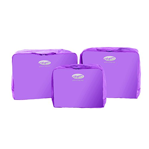 Olympia 3-Piece Packing Pouch Set, Purple