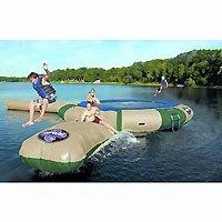 Northwoods Trampoline Log - RAVE Eclipse AJ-250 Trampoline with Aqua Launch and Aqua Log (Northwoods)