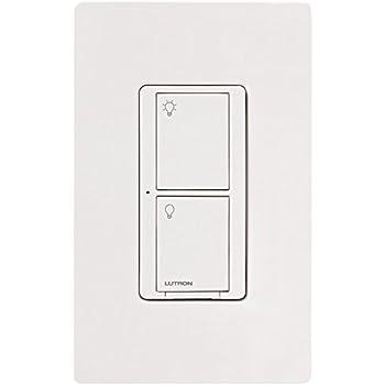 Lutron PD-5WS-DV-WH Caseta Wireless 5 Amp Lighting and 3 Amp Fan RF On/Off Light Switch, White