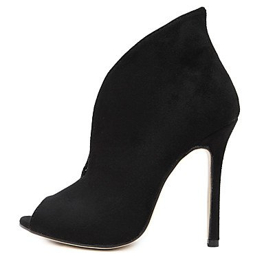 WSX&PLM Da donna-Stivaletti-Ufficio e lavoro Formale Casual Serata e festa-Innovativo-A stiletto-Felpato-Nero Marrone , brown , us8 / eu39 / uk6 / cn39