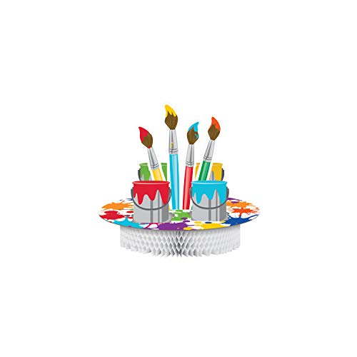 Creative Converting 317728 Art Party Centerpiece, 11.75 x 12, Multicolor