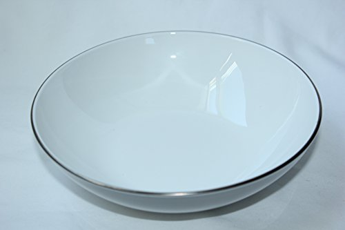 Coupe Centura White - Corning Centura White Platinum Edge Coupe 9 Inch Vegetable Serving Bowl